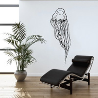 Jellyfish Wall Decal Scuba Tentacles Deep Sea Ocean Fish Wall Decals Vinyl Sticker Interior Home Decor Vinyl Art Wall Decor Bedroom SV5816