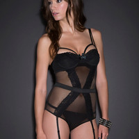Fishnet & Lace Underwire Teddy