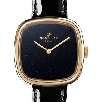 Gomelsky The Eppie Sneed Leather Strap Watch, 32mm   Nordstrom