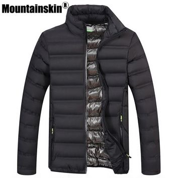 Mountainskin Winter Men's Jackets & Coats 4XL Casual Solid Parkas Men Outerwear Stand Collar Male Jackets Brand Clothing SA380