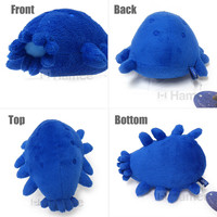 Strapya World : Deep Sea Creature Elpidia Sea Cucumber Plush (Blue/16 cm)