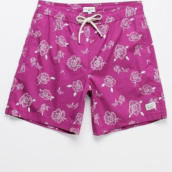 CREYONDI5 Modern Amusement Benko '70s Floral 17' Swim Trunks