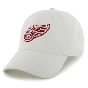 NHL Detroit Red Wings Mens White Clean Up Adjustable Hat
