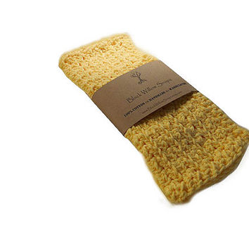 Washcloth, Handmade Crochet Washcloth, Cotton Washcloth Set, Stocking Stuffer, Housewarming Gift, Yellow