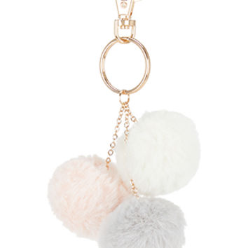 Accessorize | Mini Pom Pom Keyring | Multi | One Size