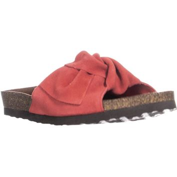 White Mountain Henley Comfort Flat Slip-on Sandals, Red, 7 US