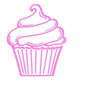 Cupcake Decal Baker Decal Window Decal
