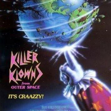 Killer Klowns From Outer Space poster Metal Sign Wall Art 8in x 12in