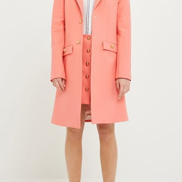 Single-breasted midi coat, Women