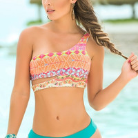 Neon Bright Two Piece Swimsuit
