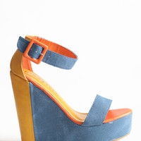 Stomping Grounds Colorblocked Wedges - $32.50: ThreadSence, Women's Indie & Bohemian Clothing, Dresses, & Accessories