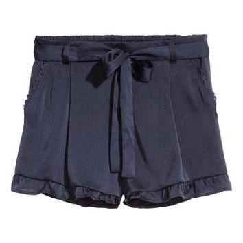 H&M Ruffle-trimmed Shorts $24.99