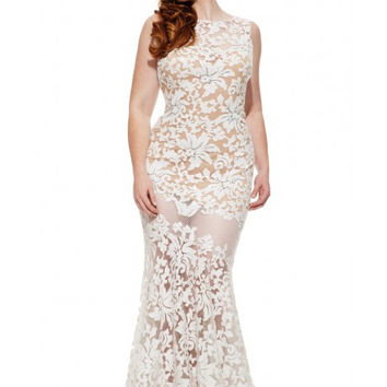 JOHNATHAN KAYNE 6028k Sequin Lace Boat Neckline Evening Prom Dress