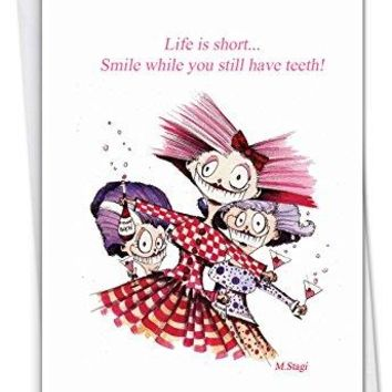 Life Is Short: Funny Birthday Greeting Card - Free Shipping