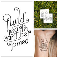 Wild Hearts - temporary tattoo (Set of 6)