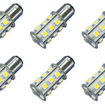 18x 5050 12V-24V LED Light Bulb BA15s BA15d 1156 1157 Marine Lighting - 6 Pack