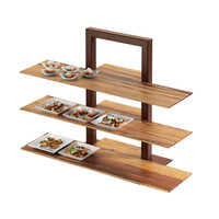 32W x 11.5D x 0.5H Bamboo Shelf for 3 Tier Frame Riser