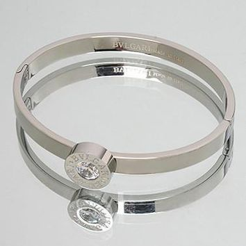 Bvlgari Woman Fashion Diamond Plated Bracelet For Best Gift