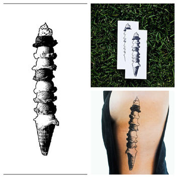 IceCream  temporary tattoo Set of 2 by Tattify on Etsy