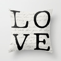love Throw Pillow by Beverly LeFevre