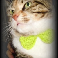 Cat or Dog Crocheted Bow Tie Collar Accessory,