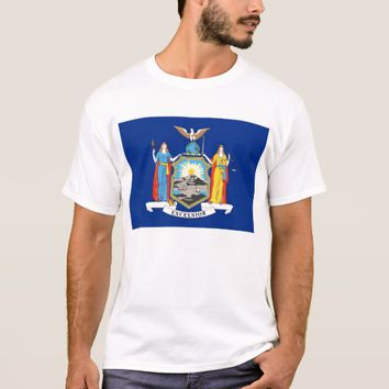 T Shirt with Flag of New York State USA