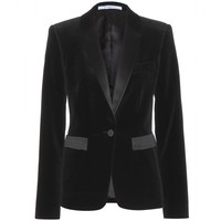 givenchy - velvet and satin blazer