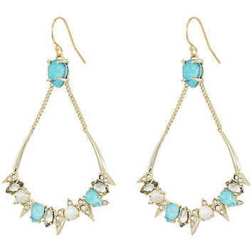 Alexis Bittar Pavé Spike Stone Cluster Wire Earrings