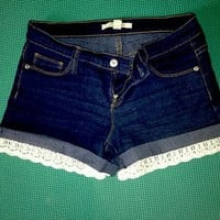 Forever 21 Shorts Customized With Lace Trim