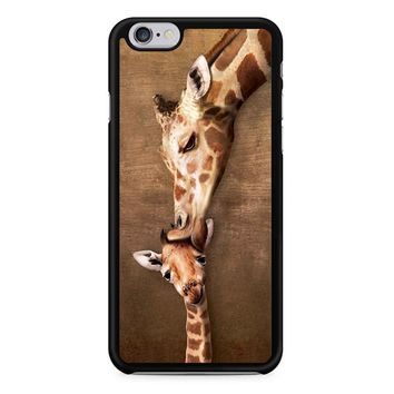 Giraffe Kissing Baby iPhone 6/6S Case