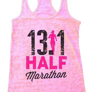 13.1 HALF Marathon Burnout Tank Top By Womens Tank Tops