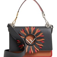Fendi Kan I Century Mix Calfskin Leather Shoulder Bag | Nordstrom