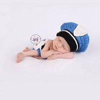 Police Officer Knit Hat Outfit Photo Prop - CCA79