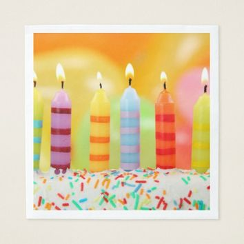 Birthday Candles Napkin