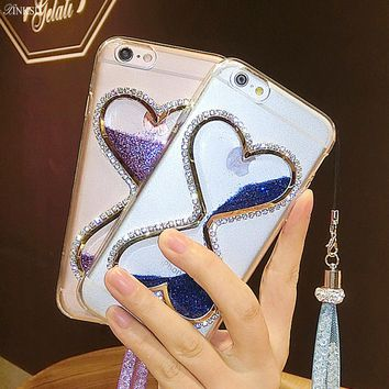 cell phone quicksand Case for Huawei P8 P9 likte Dynamic liquid glitter Cases For Huawe P8 LITE P9 LITE girl style phone Shell