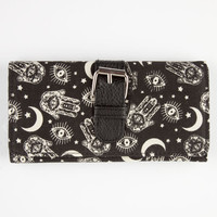 Mystical Buckle Wallet Black/White One Size For Women 26289912501