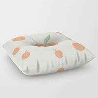 Peachy Floor Pillow by sm0w