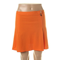 Theory Womens Solid Pleated A-Line Skirt