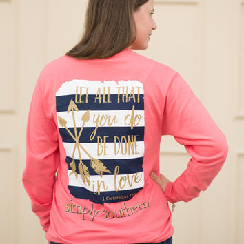 Simply Southern Long Sleeve In Love Tee