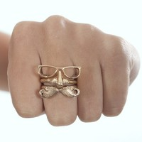 Face Ring | Glasses Nose Moustache Ring | MessesOfDresses.com