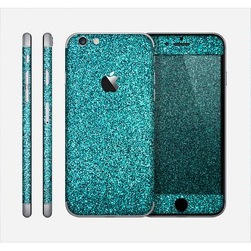 The Teal Glitter Ultra Metallic Skin for the Apple iPhone 6
