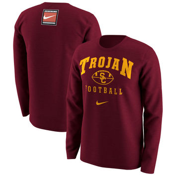 USC Trojans Nike Retro Pack Long Sleeve T-Shirt - Cardinal