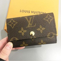LV Louis Vuitton Key Pouch For Women Men Coin Purse B