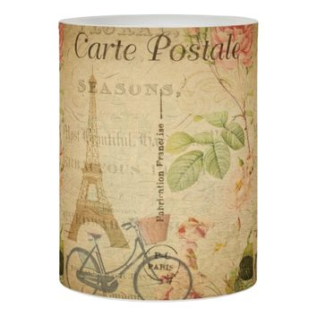 French Postcard LED Candle