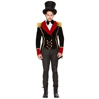 Sexy Ringmaster Embellished Jacket with Bow Tie and Whip