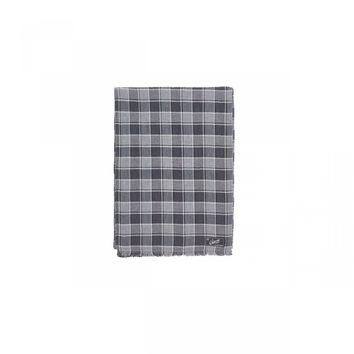 Grayers - Double Cloth Cotton Scarf Gray/Charcoal Herringbone