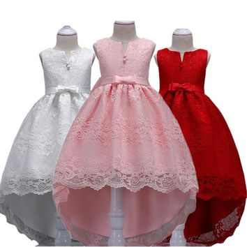 Baby Girl Clothes Flower Kids Girls Lace Dresses Ball Gown Princess Wedding Party Chirstmas & New Year Costume 3-14 Years