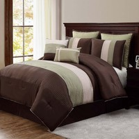 Victoria Classics Essex 8-pc. Comforter Set (Green)