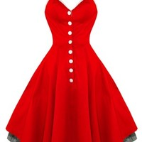 Hearts & Roses Red Rock n Roll Dacing Dress