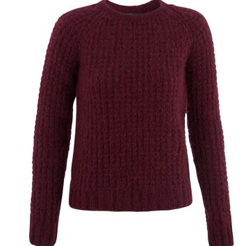 maje KAROLINE Alpaca Blend Ribbed Sweater at Maje US